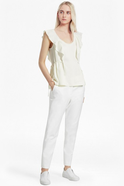 Nia Drape Fluted Front Top