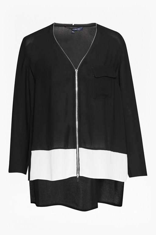 Complete the Look Belle Colour Block Zip Top