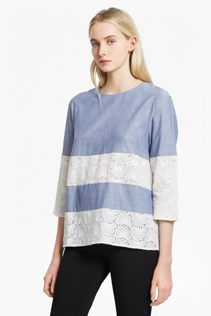 Kyra Cotton Embroidered Tunic Top