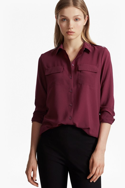 Pippa Plains Front Pockets Shirt