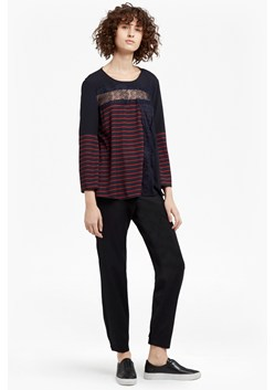 Isabella Light Striped Crepe Top