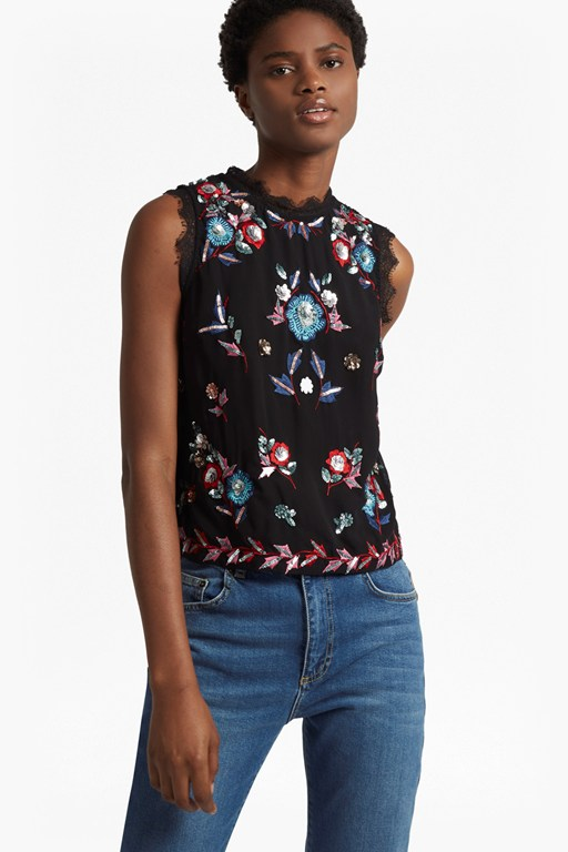edith floral sleeveless top