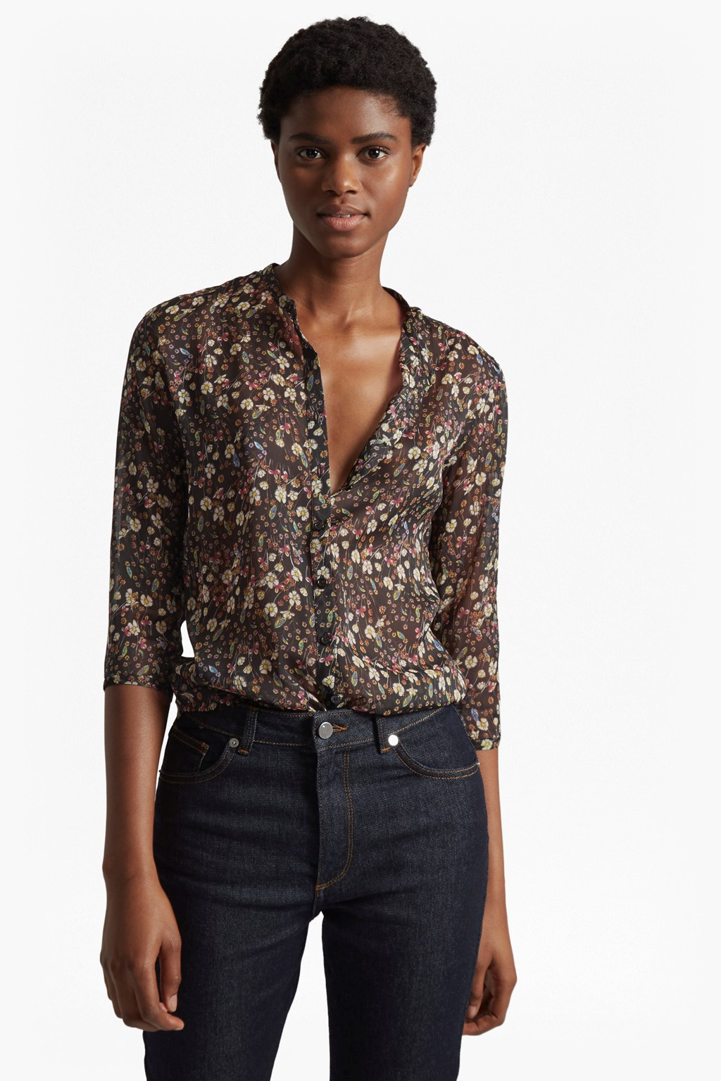 493f0d87 Hallie Crinkle Collarless Shirt | Mens Sale | French Connection Usa