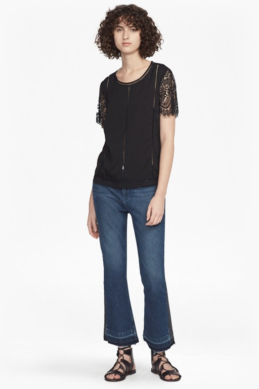 Complete the Look Classic Crepe and Lightweight Lace T-Shirt