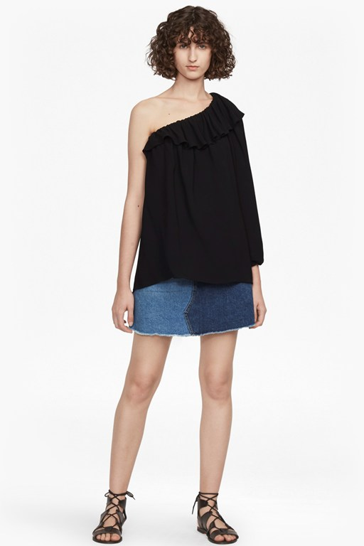 evening dew one shoulder top