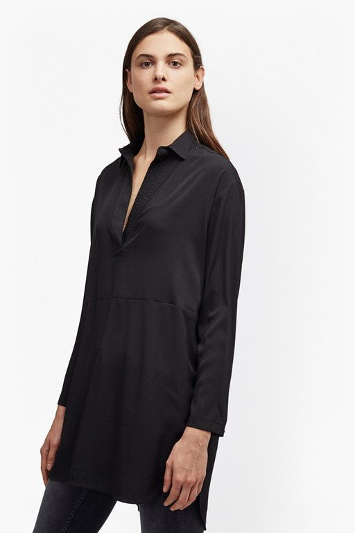 aggy crepe light oversized shirt