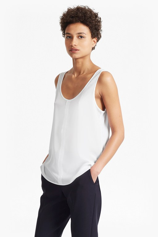 clee crepe light vest top