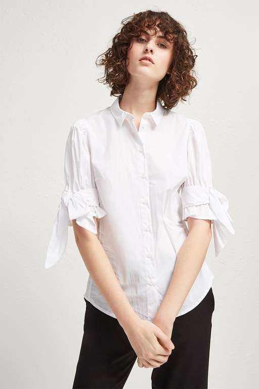 eastside cotton bow shirt