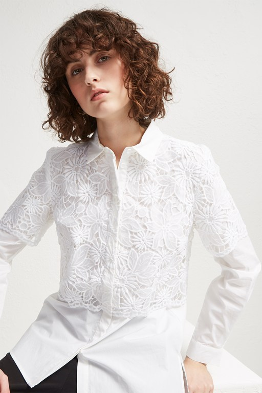 Complete the Look Southside Mix Lace Shirt