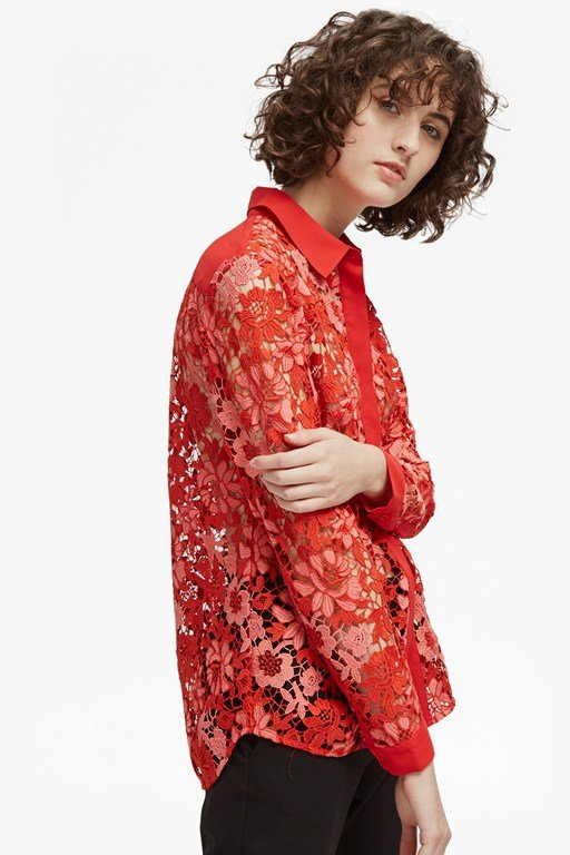 musea lace classic shirt