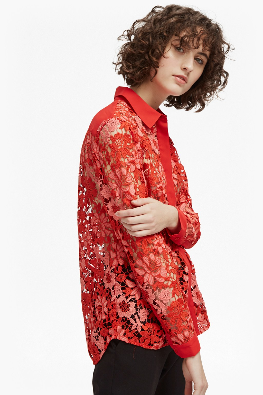 b6e2f359580a3b Musea Lace Classic Shirt | Sale | French Connection Usa