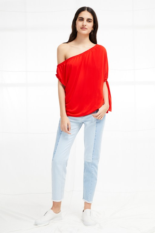 tanna jersey asymmetric top