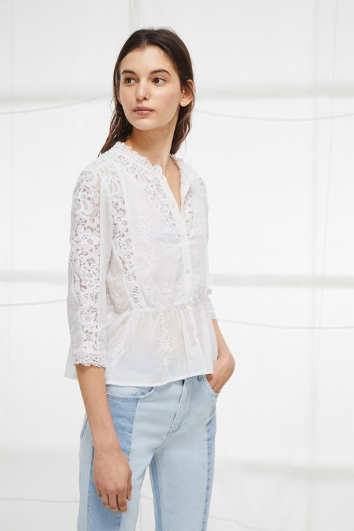 alimos broderie lace top