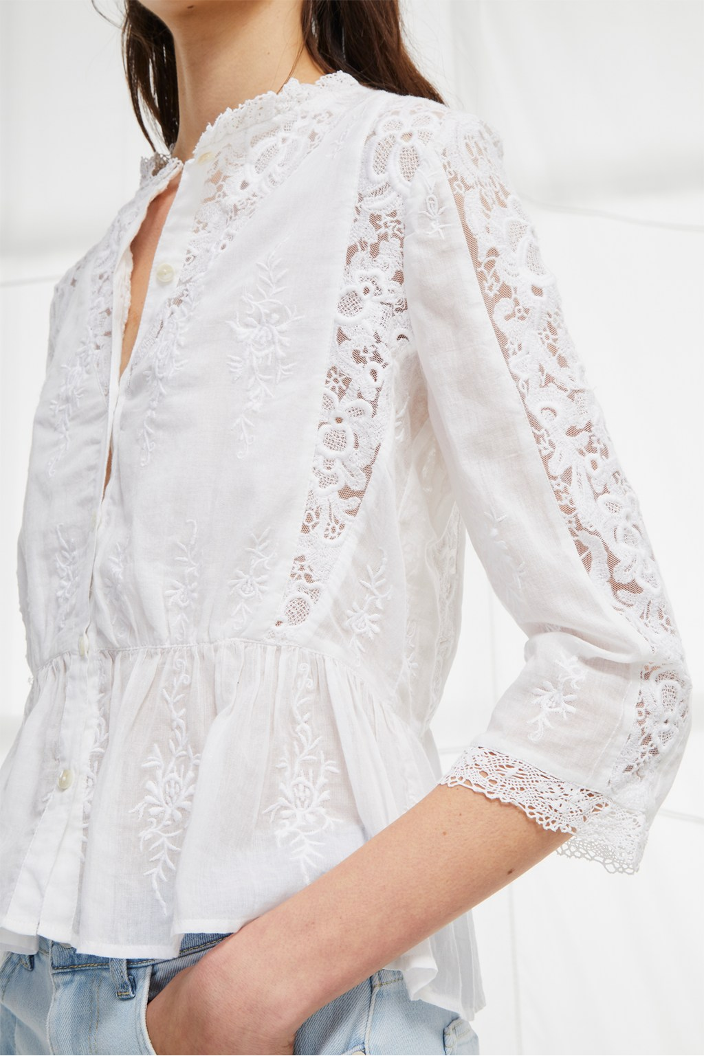 bbf37068b32 Alimos Broderie Lace Top | Wedding Guest Dresses | French Connection Usa
