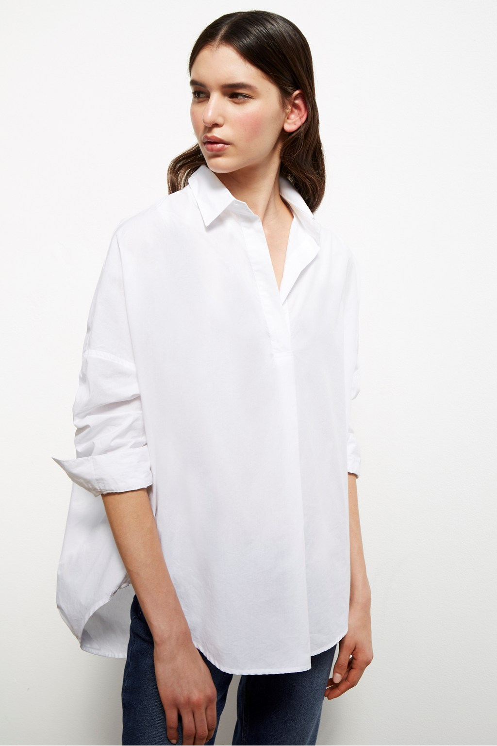 baddfe094b307f Rhodes Poplin Relaxed Fit Shirt | Collections | French Connection Usa