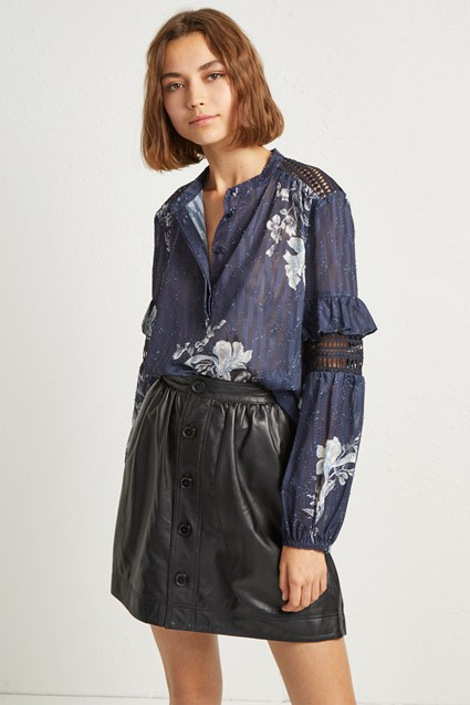 Ellette Mix Frill Sleeve Blouse