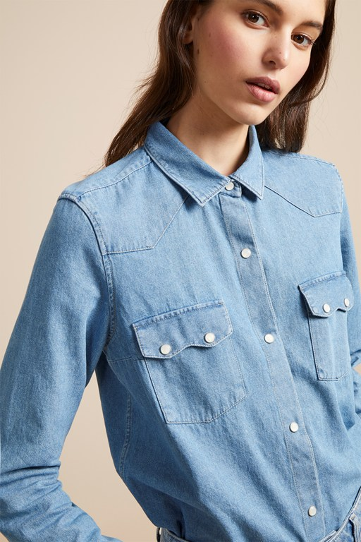 avery denim western shirt