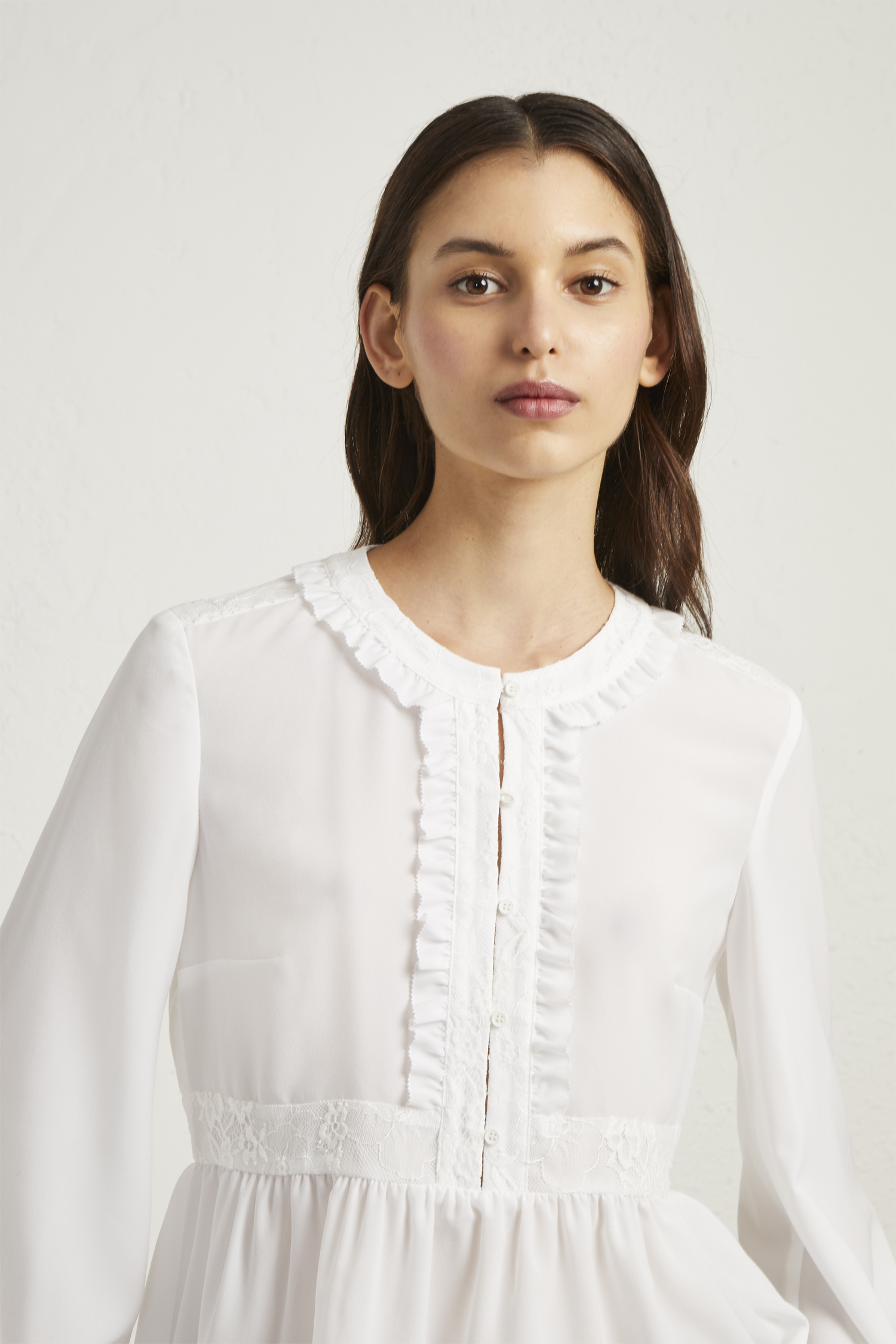 Crepe Light Lace Blouse by French Connection