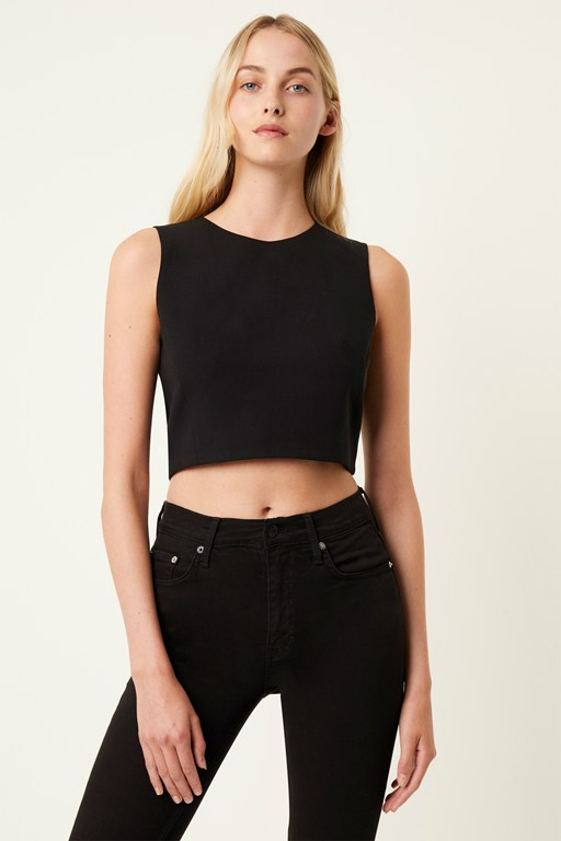 whisper sleeveless crop top