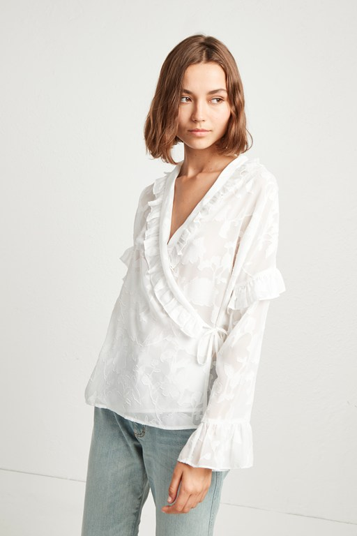 clarita fil coupe devore wrap top