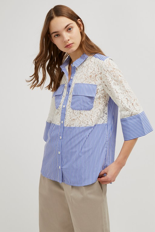 adena lace mix shirt