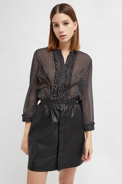 caressa crinkle printed shirt