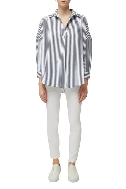 Rhodes Stripe Pop Over Shirt