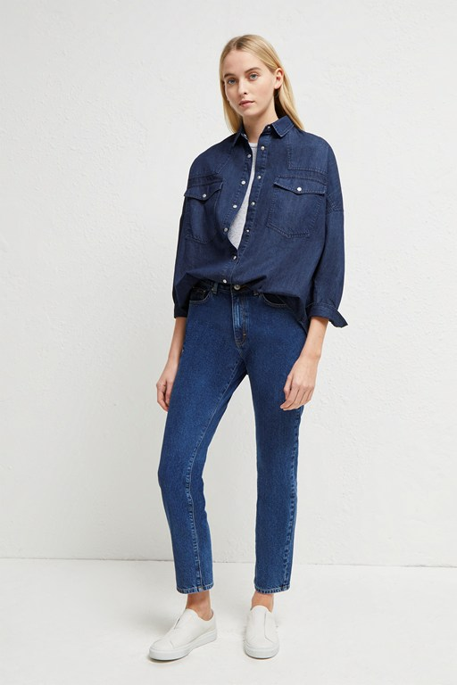 marbilia western denim shirt