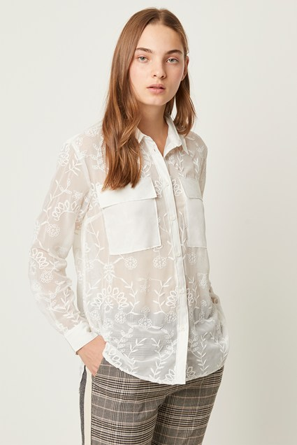 Cornelia Lace Embroidered Shirt