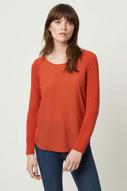 crepe light raglan top