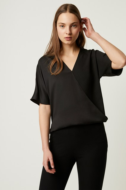 Alessia Satin Wrap Top