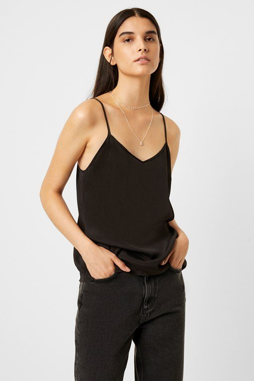 Complete the Look Etta Silk Mix V Neck Cami