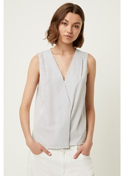 Polka Dot Crossover Neck Top