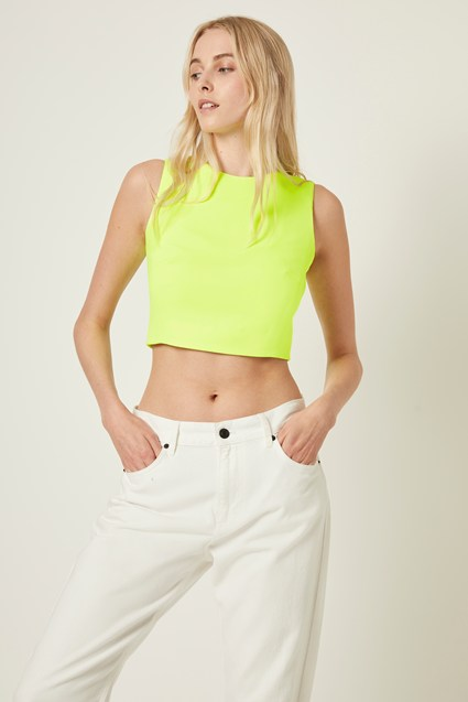 Neon Whisper Crop Top