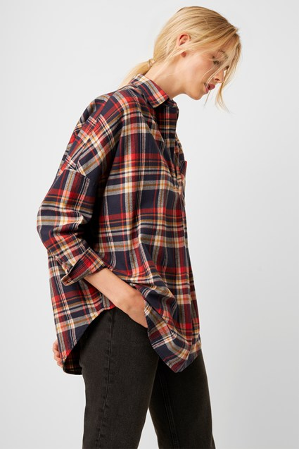 Rhodes Check Flannel Pop Over Shirt