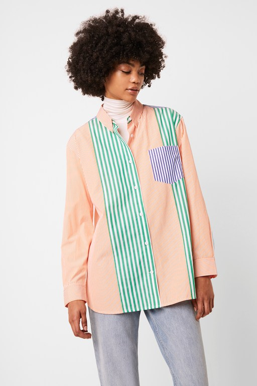 adisa stripe color block shirt