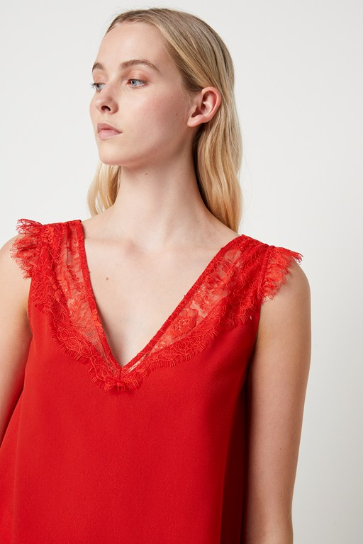 chioma light lace top
