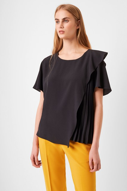 Aphra Pleated Top