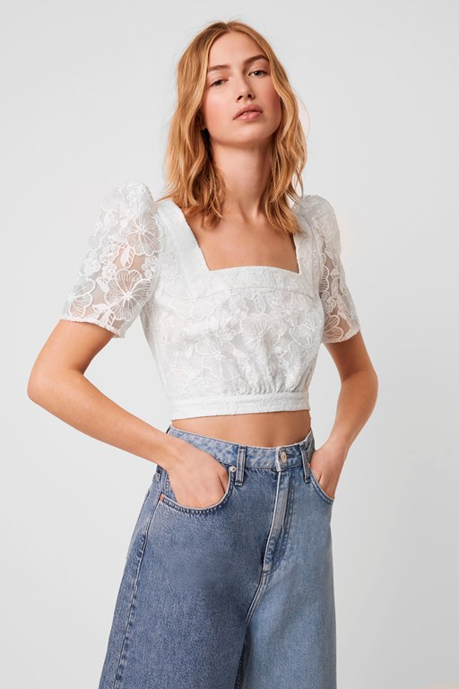 baintana lace crop top