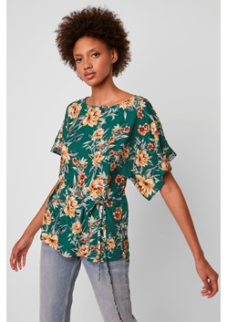 Claribel Floral Short Sleeve Belted Top