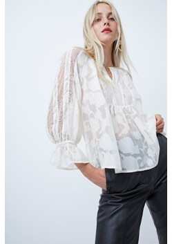 Bee Lace Mix Smock Blouse