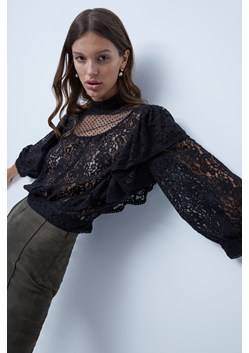 Inna Lace Mix Ruffled Top