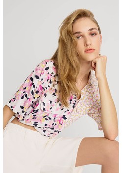 Yulia Printed Cropped Shirt