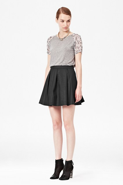 Judy Jegs Pleated Wet Look Skirt