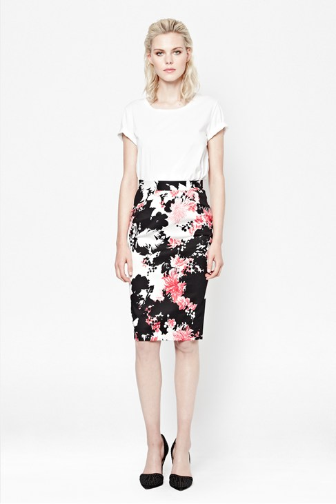 Belle Garden Pencil Skirt