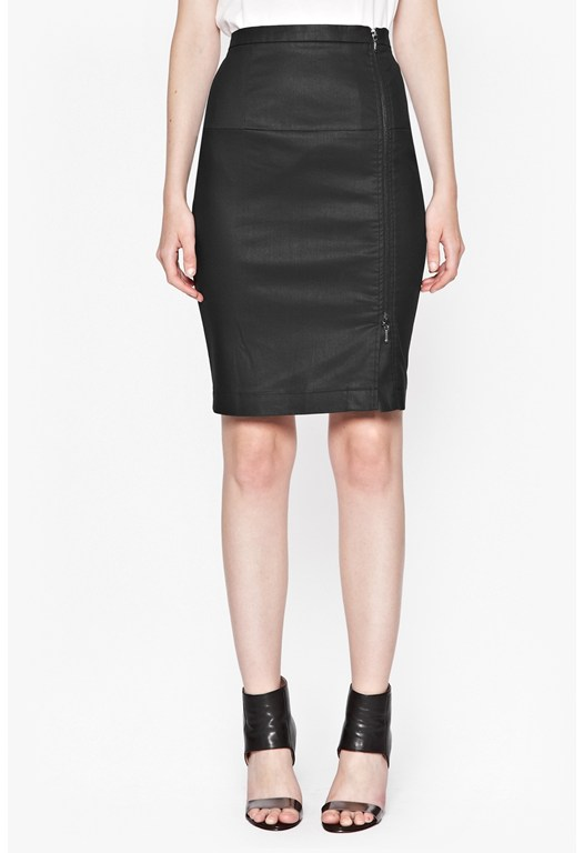 Gazelle Zip Pencil Skirt