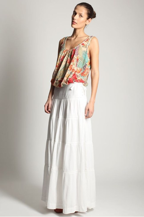 A WALK IN THE PARK MAXI SKIRT