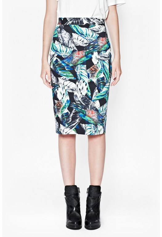 Fast Calliope Printed Pencil Skirt