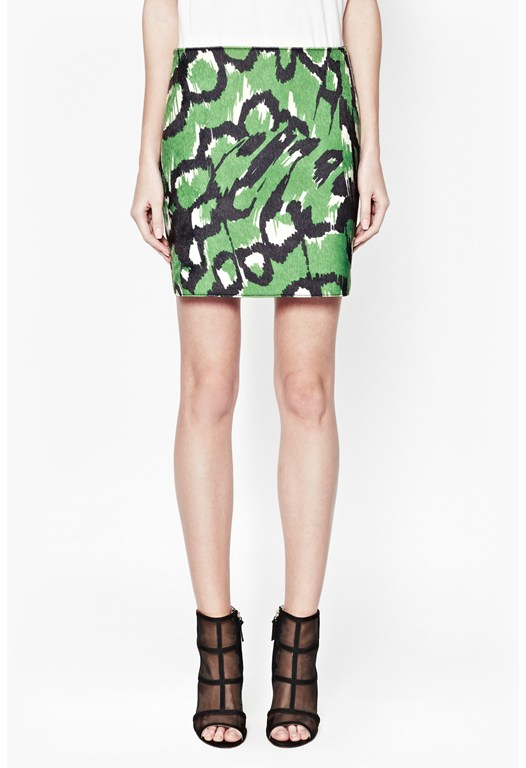 Leopard Moth Mini Skirt