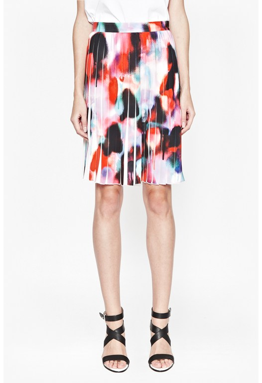 Miami Graffiti Pleated Skirt